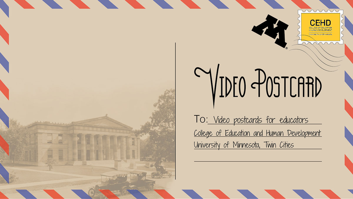 Video postcard image showing Burton Hall